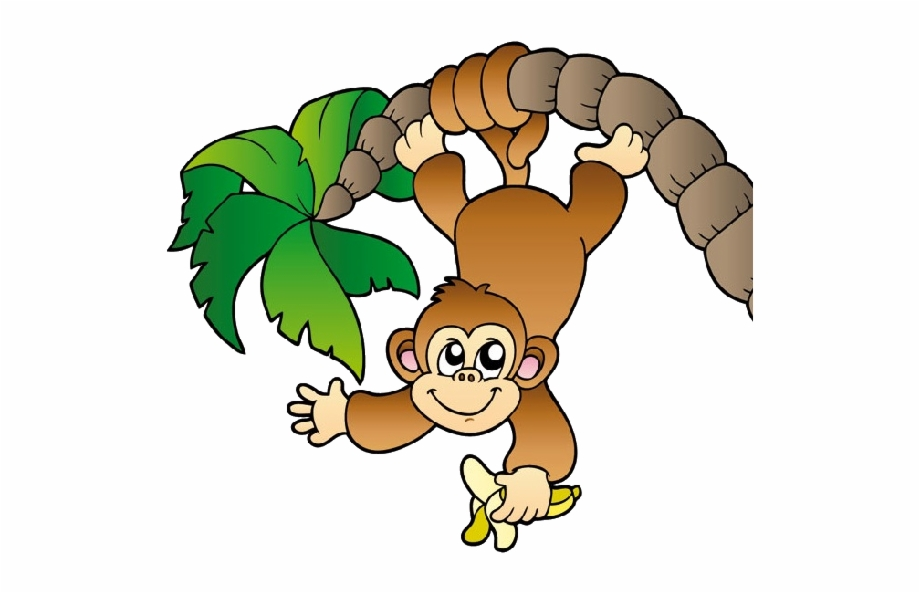 Baby Monkey Clip Art Black And White.