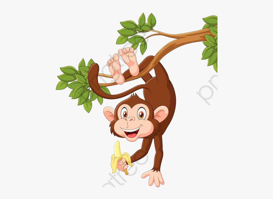Monkey Clipart Upside Down.