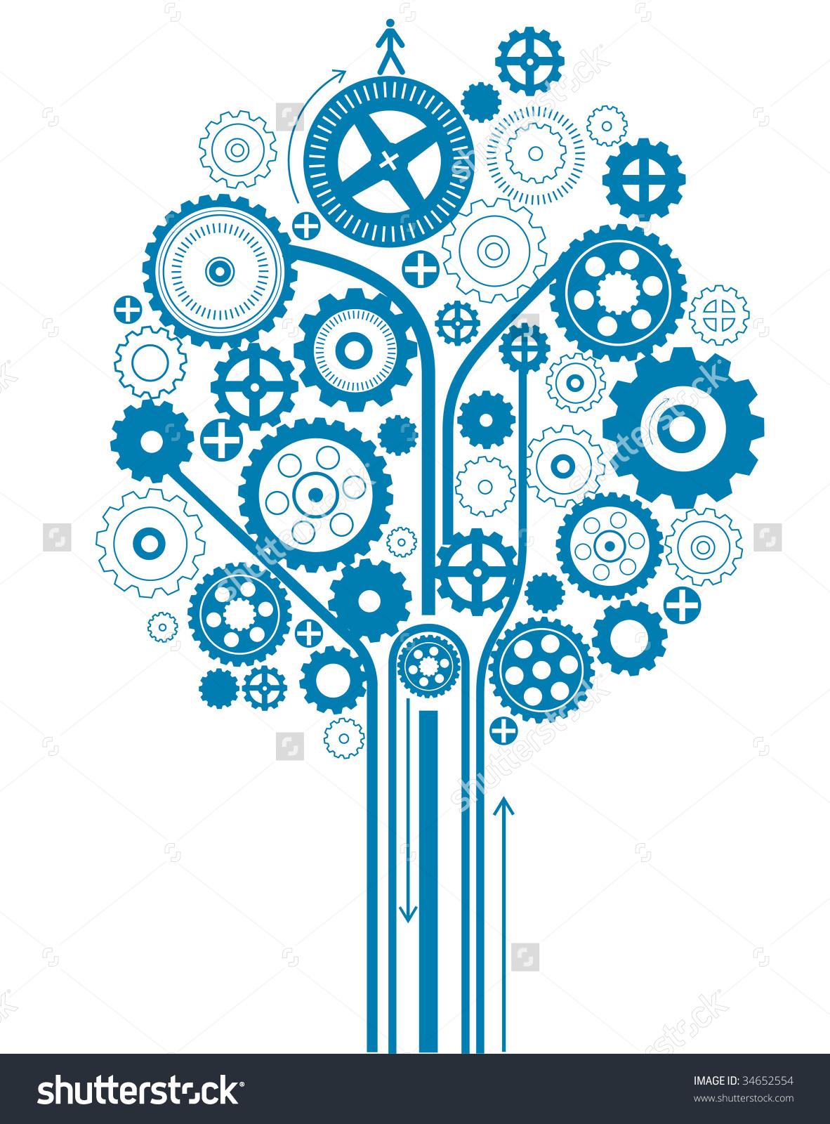 Gear Tree Stock Vector Illustration 34652554 : Shutterstock.