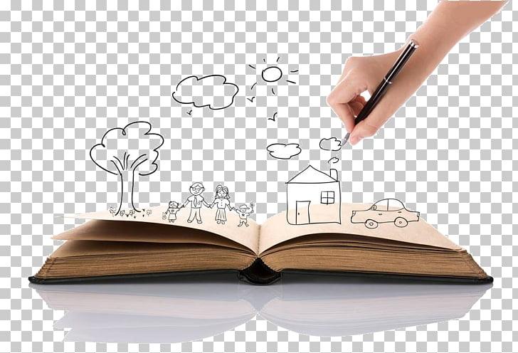 Drawing Stock photography Book Illustration, Cartoon tree.
