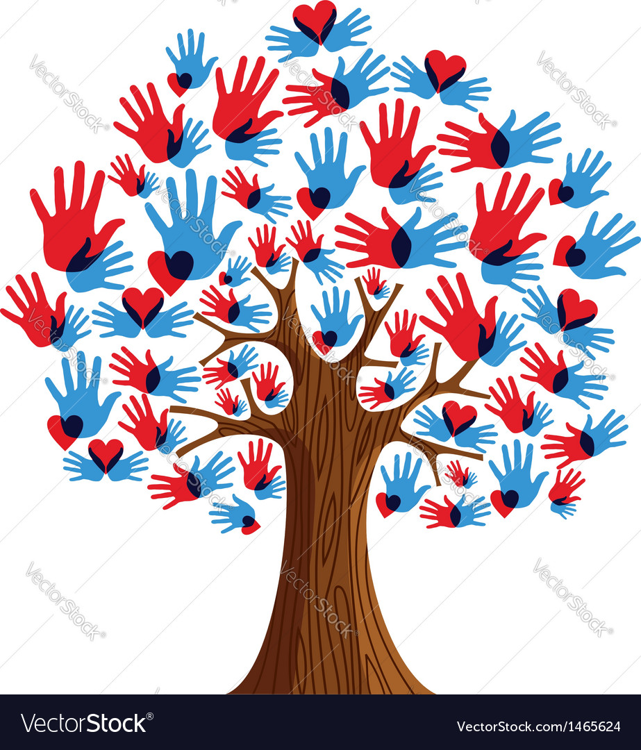 Isolated Diversity Tree hands.