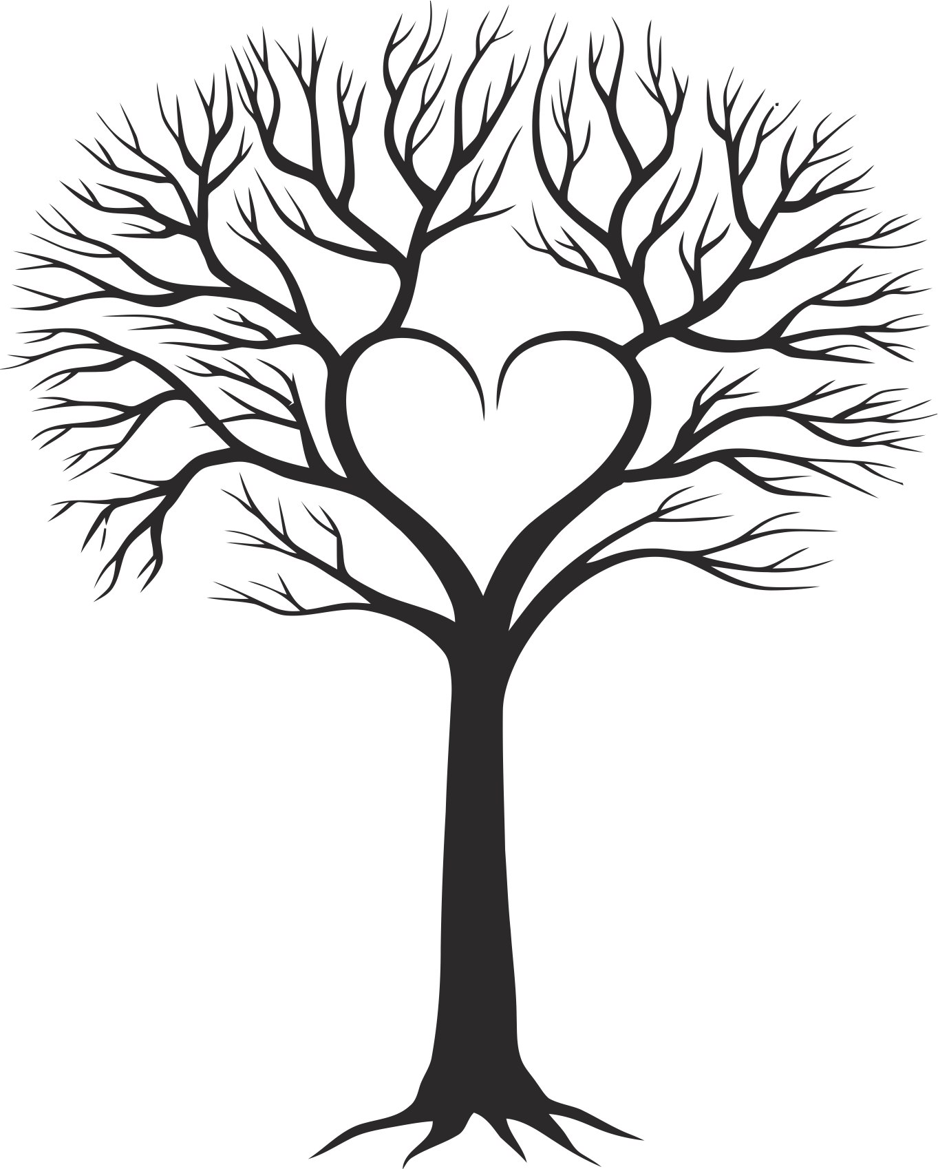 Family Tree With Heart Free Vector cdr Download.