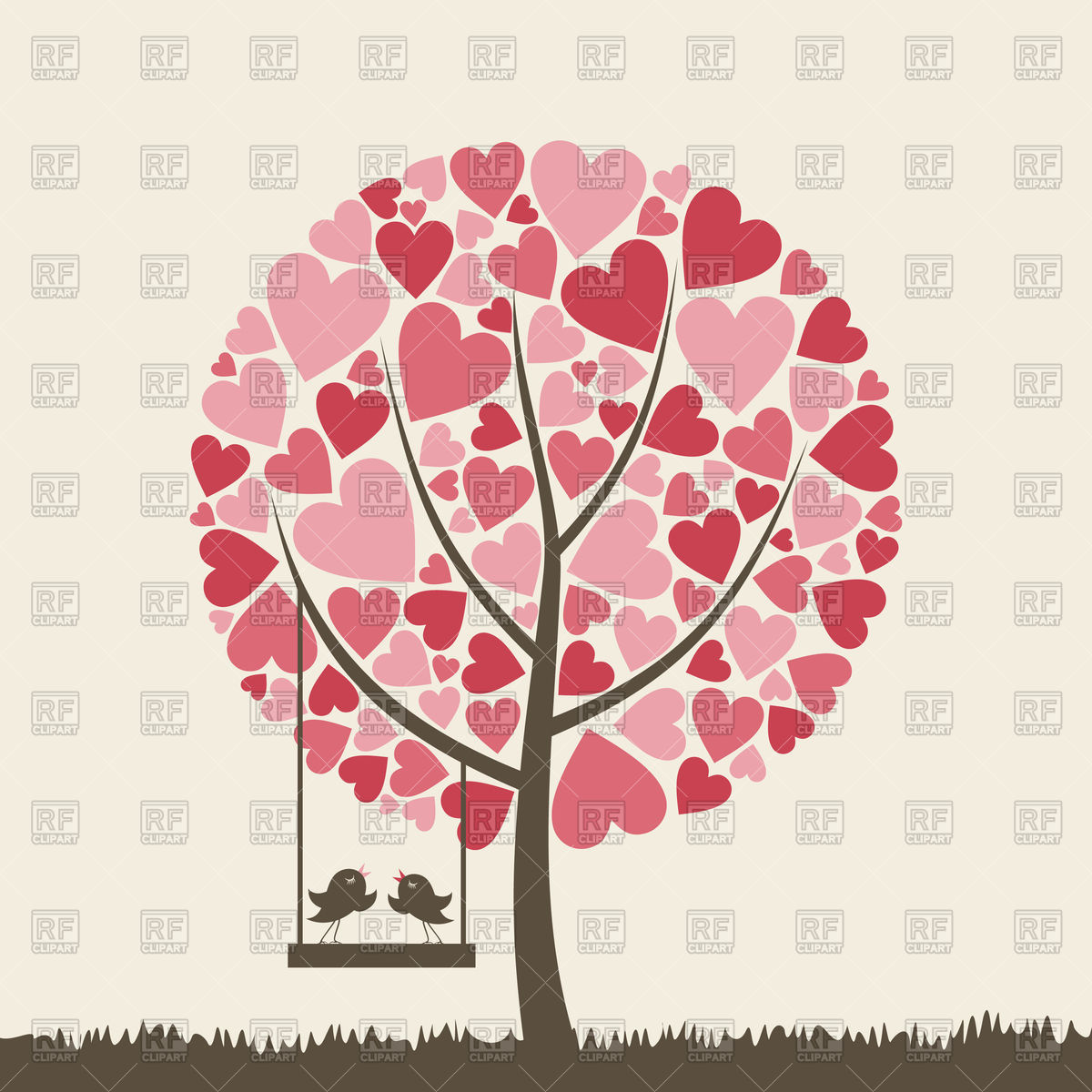 Free Heart Tree Clipart.
