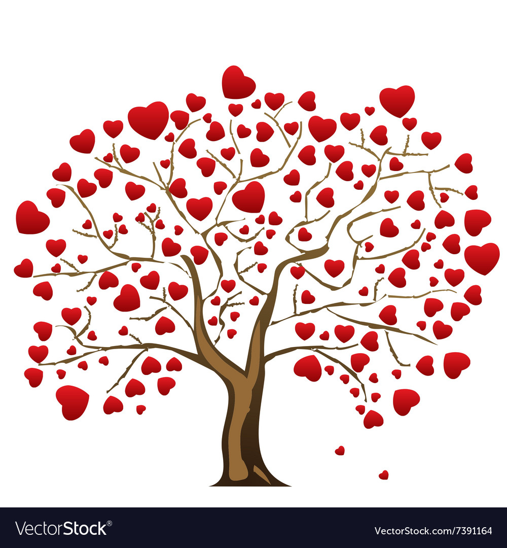 Love tree with heart leaves.