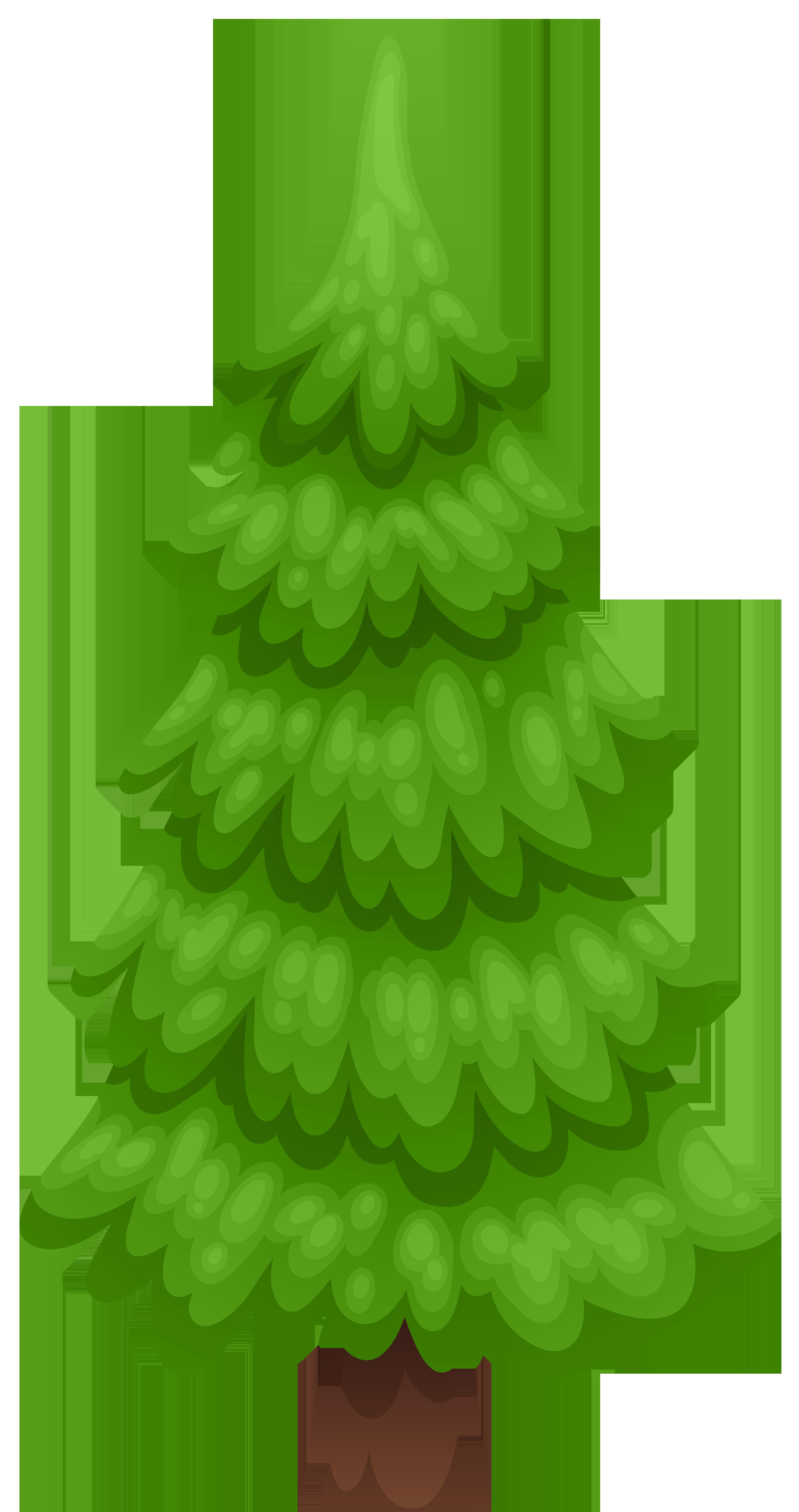 Pine Tree Cartoon PNG Clip Art Image.