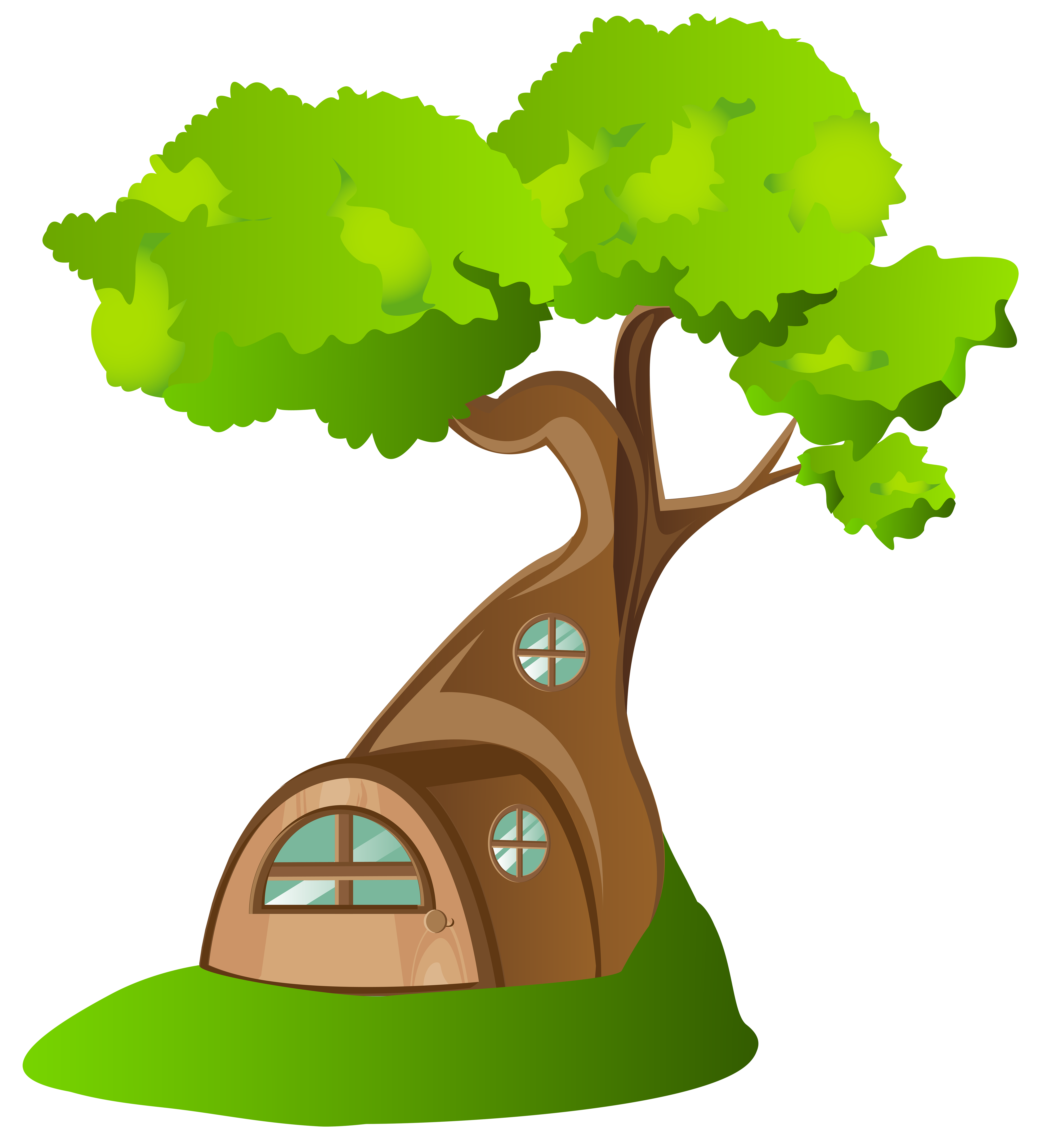 Tree House PNG Clip Art Image.