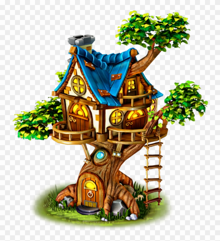 Tree House Cartoon Png Clipart (#3464016).
