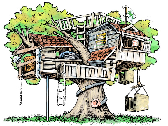 Clip Art Tree House Clipart.