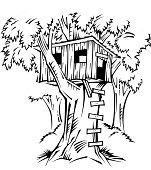 Tree House Vector Art.