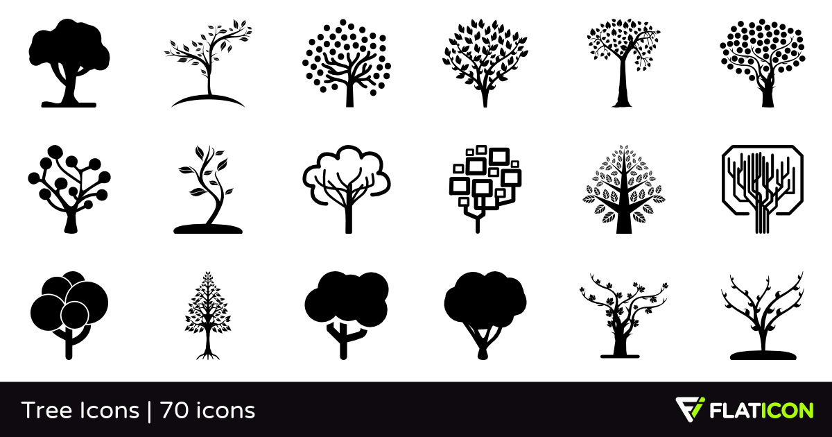 Tree Icons 70 free icons (SVG, EPS, PSD, PNG files).