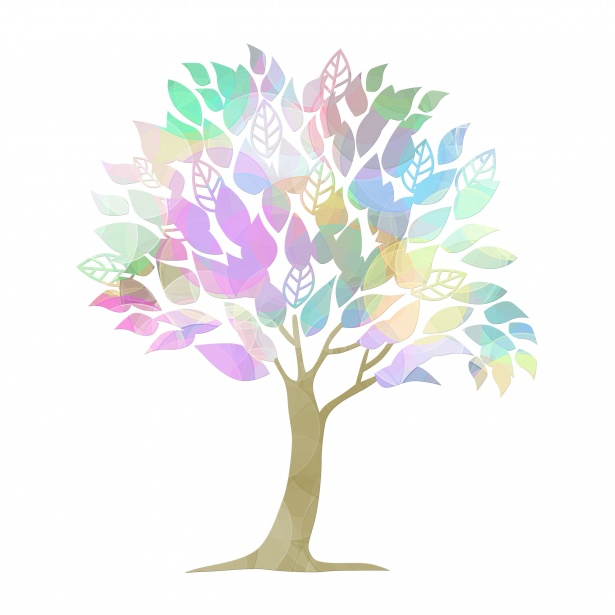 Tree Colorful Clipart Illustration Free Stock Photo.