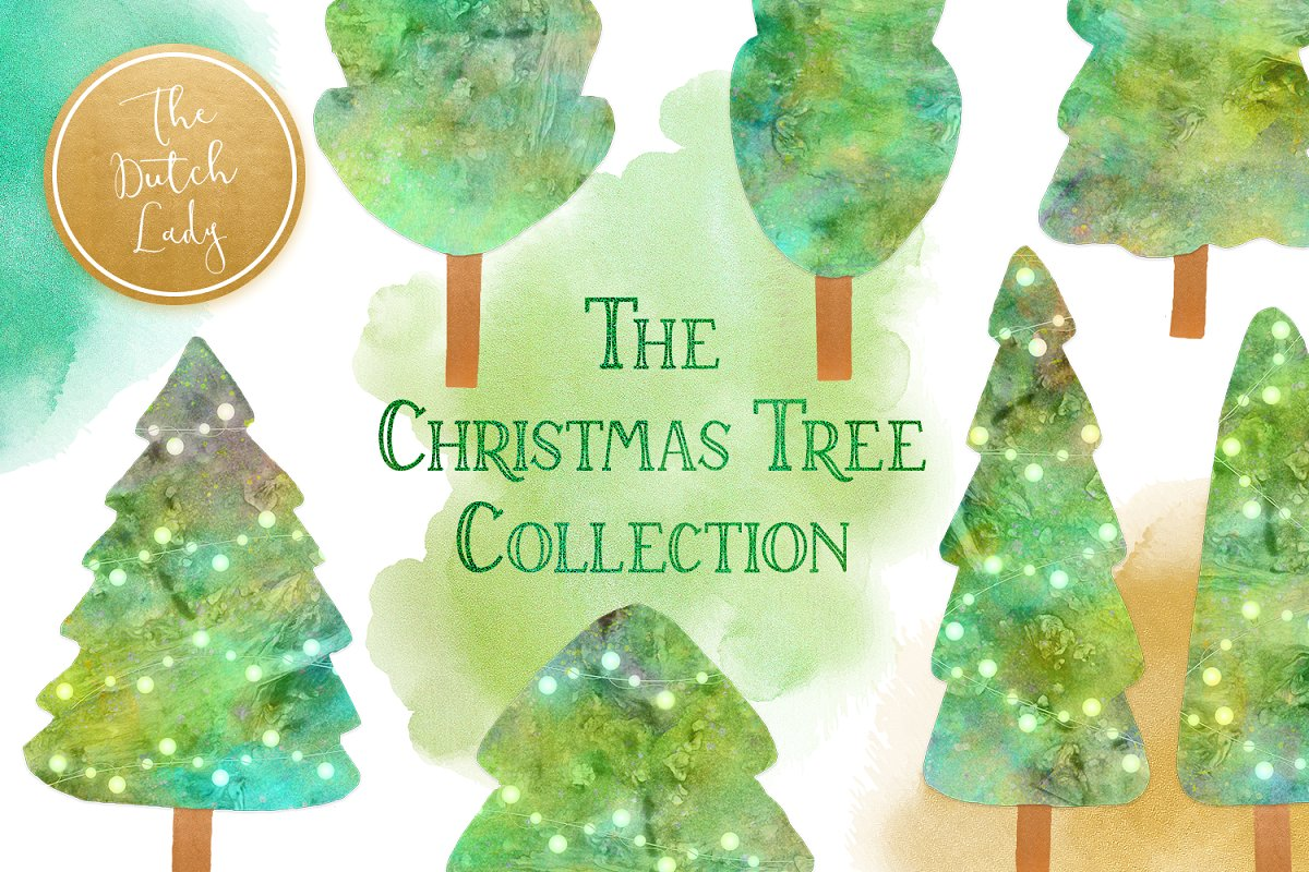 Christmas Tree Collection Clipart.