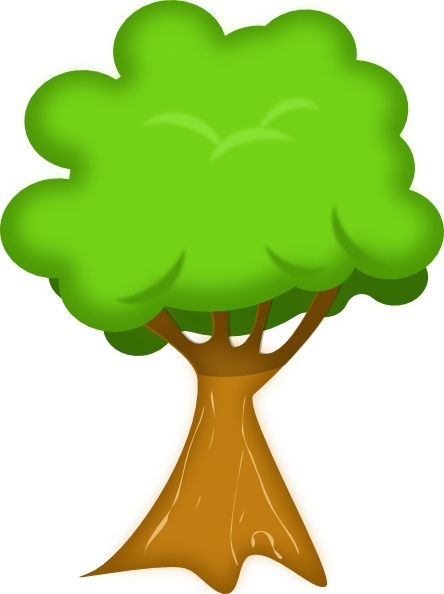 Soft Trees clip art Free vector in Open office drawing svg.