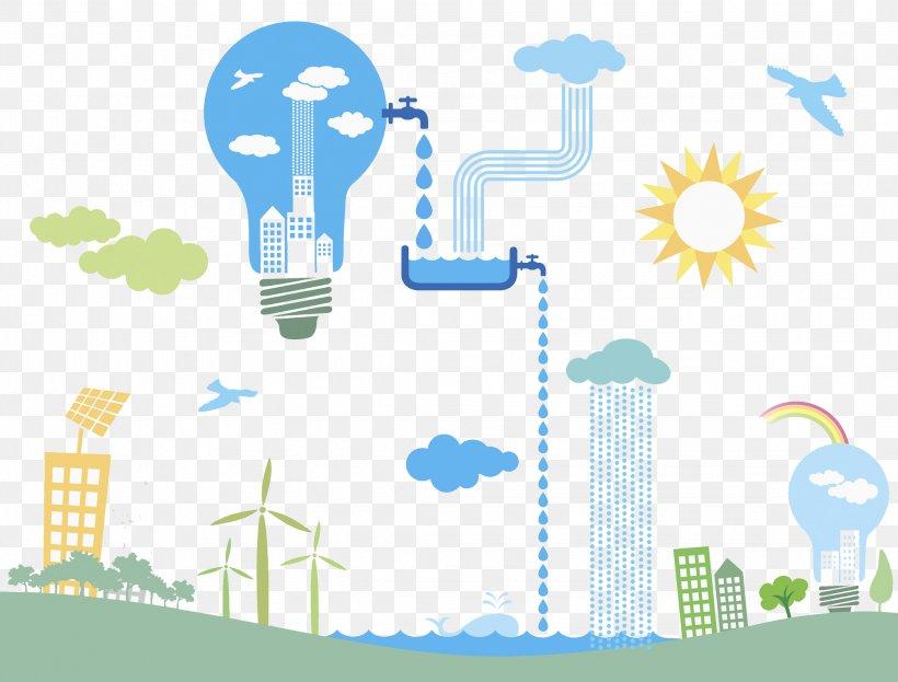 Wind Farm Renewable Energy Illustration, PNG, 2143x1630px.
