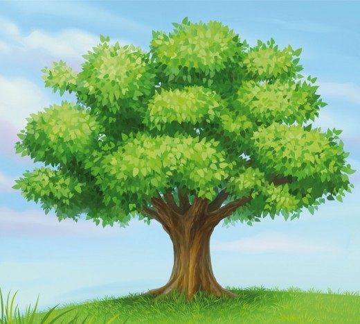 Tree in sky clipart #10