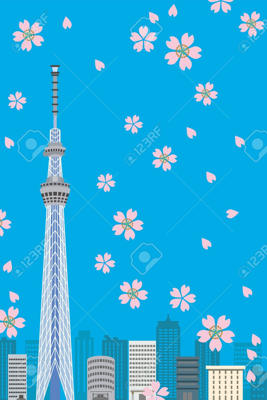 Tokyo sky tree clipart.
