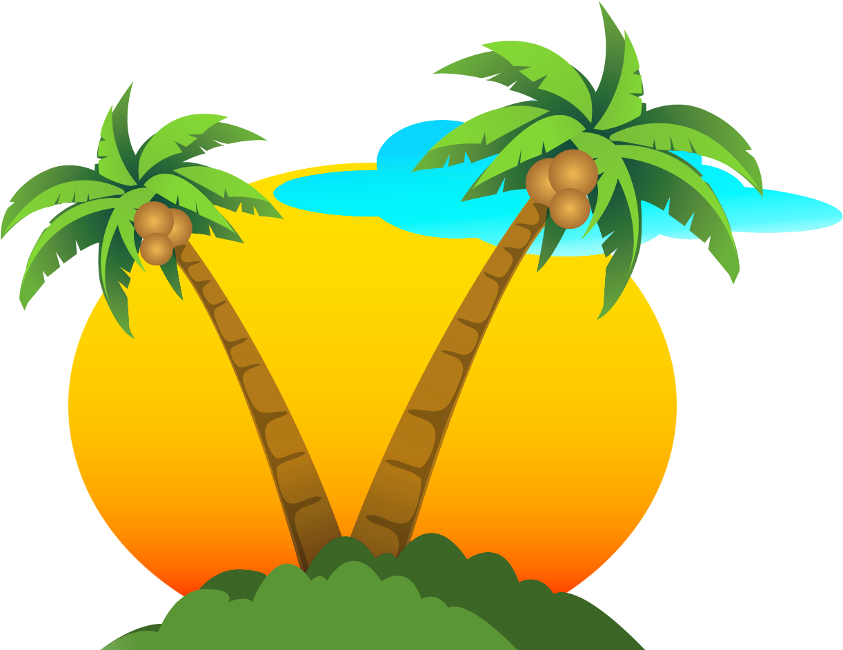 Palms And Png Palm Tree Sun Clipart.