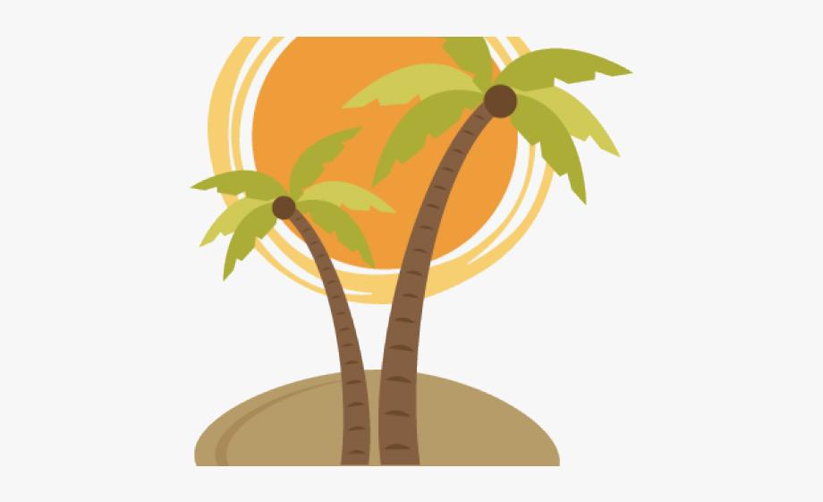 Palm Tree And Sun Transparent, Cliparts & Cartoons.