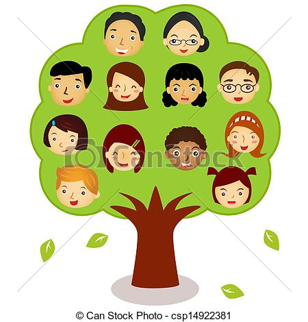 My family tree clipart.