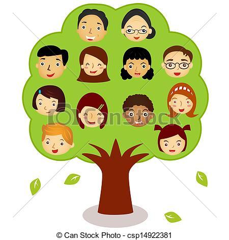 My family tree clipart.
