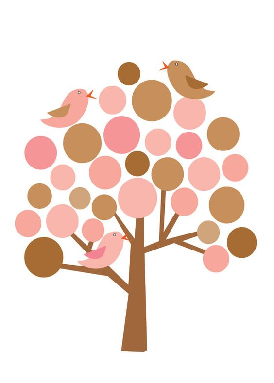 TREE AND BIRDS CLIP ART.