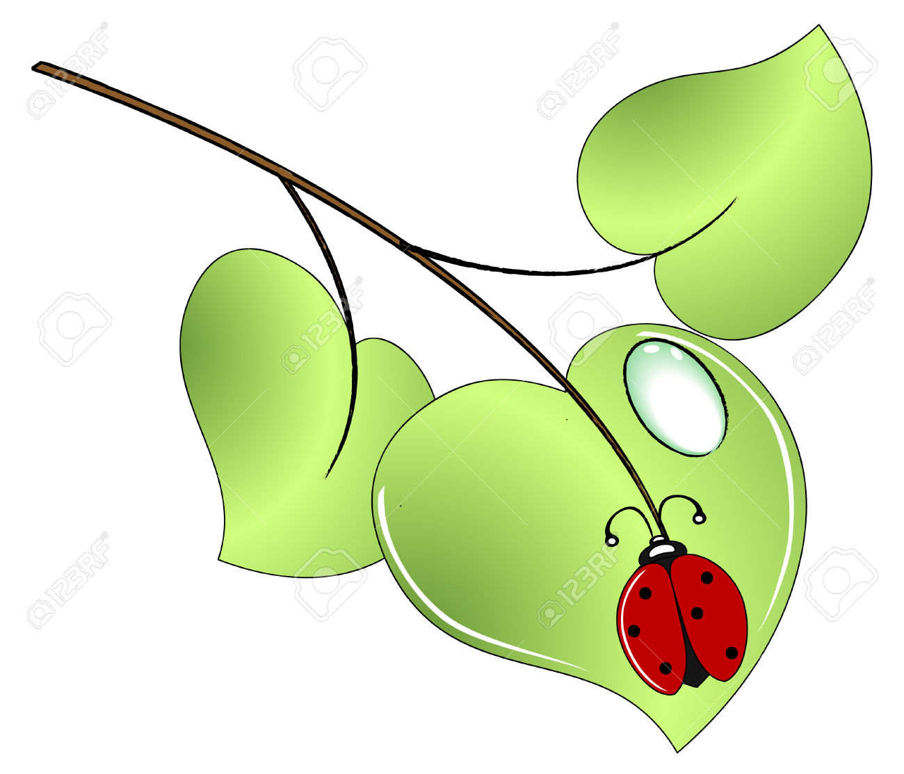 Bugs in a tree clipart.