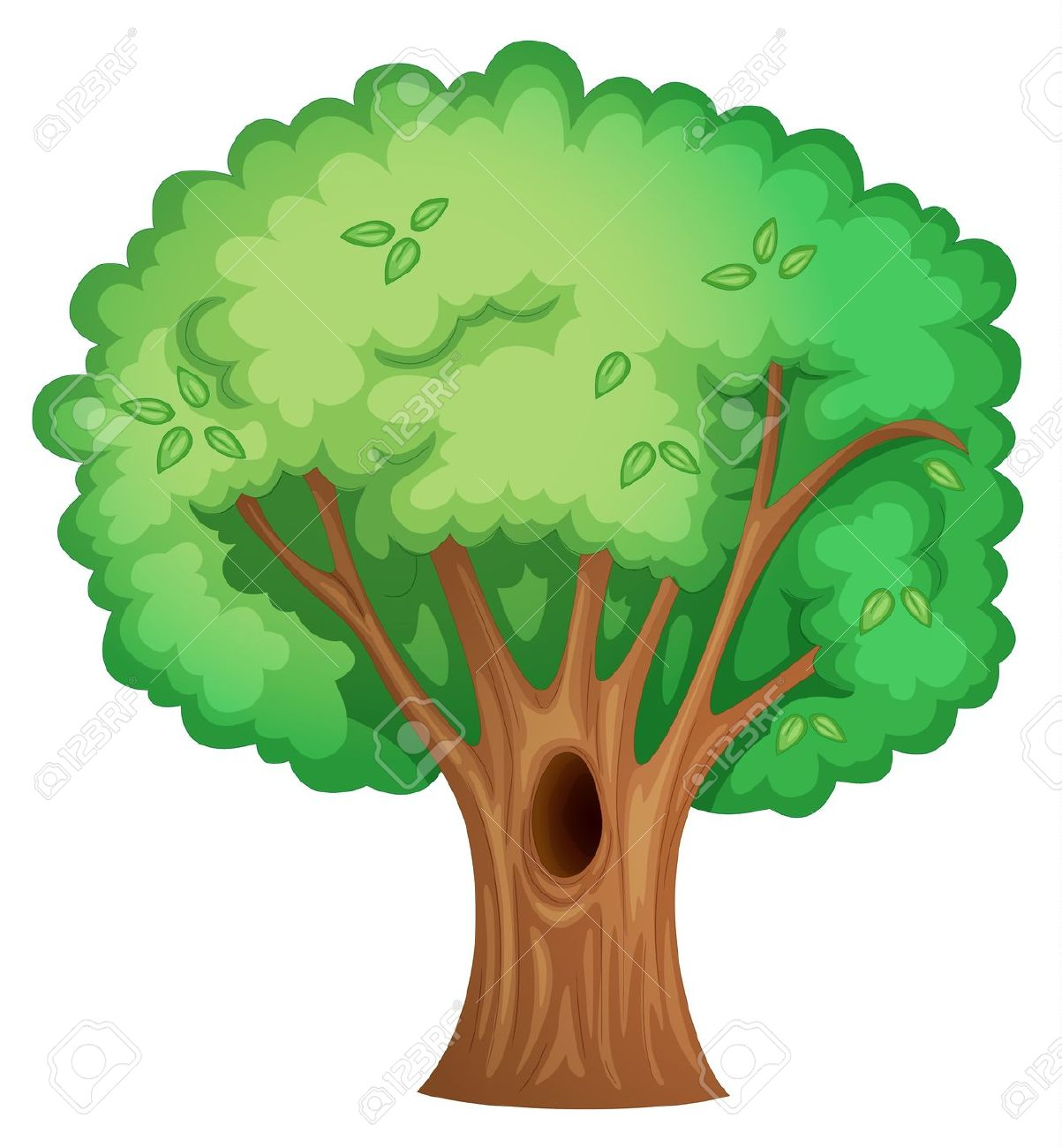 Illustration Of Isolated Tree With Hollow Royalty Free Cliparts.
