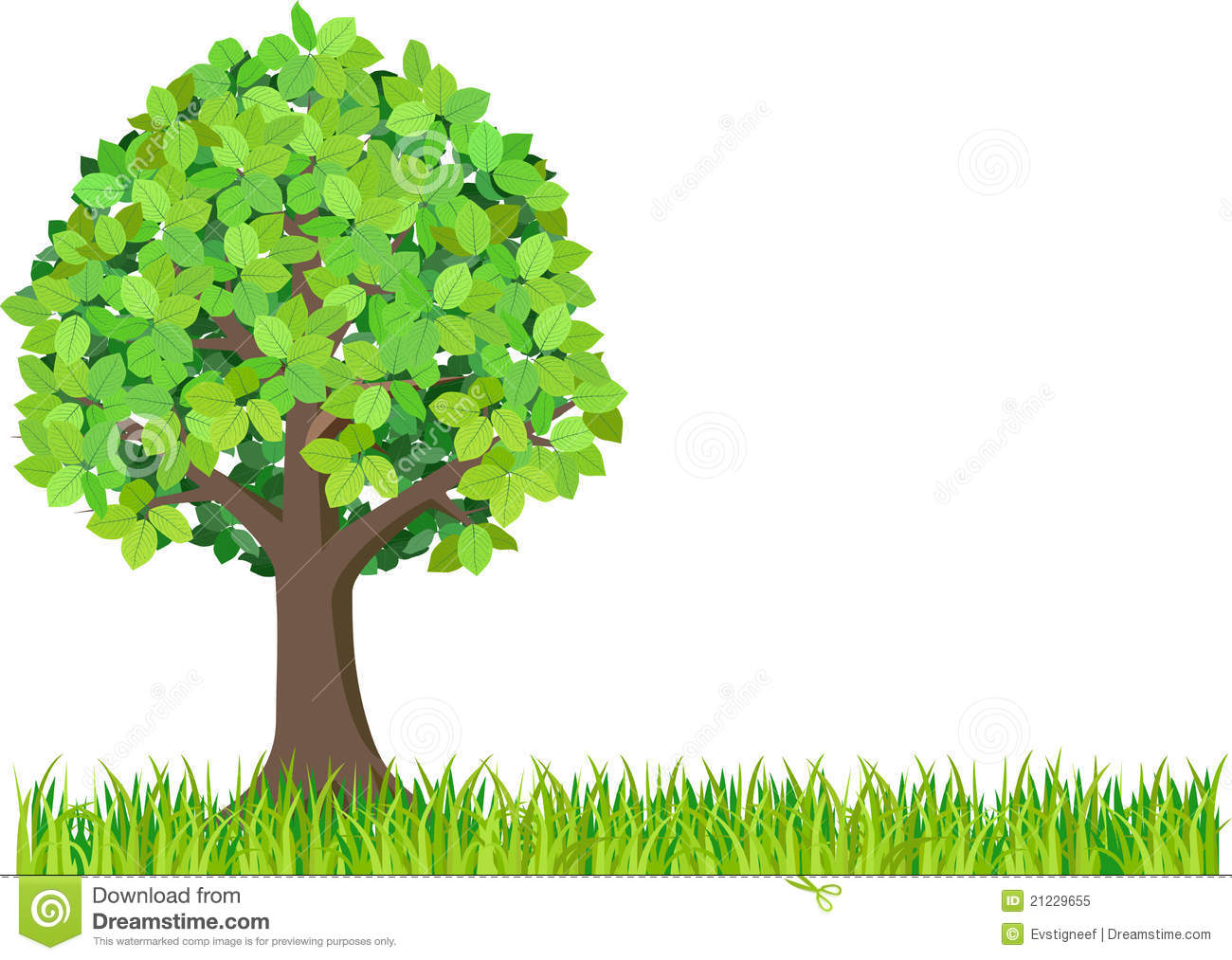 Green Isolated Tree Clipart Stock Photography.