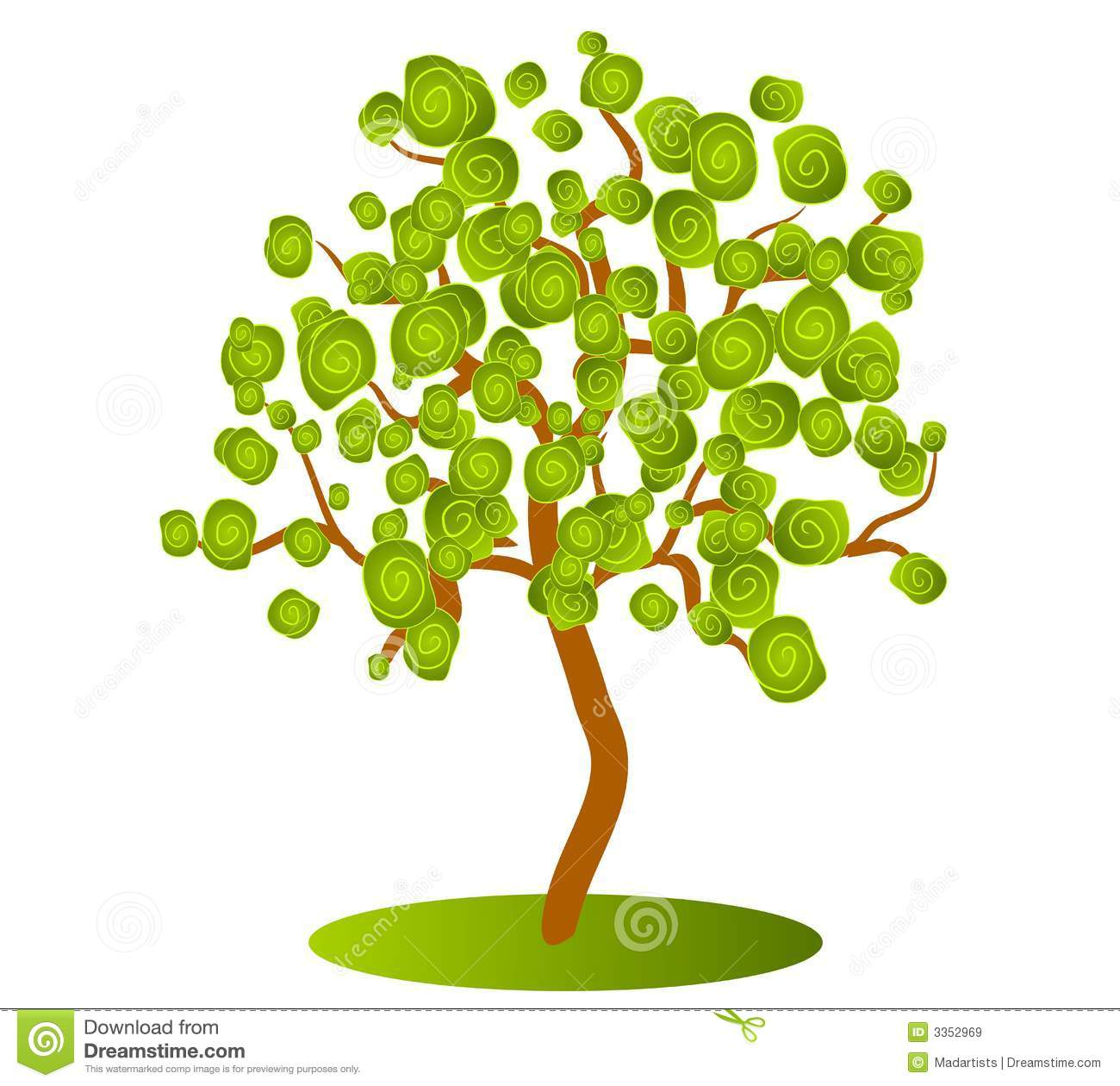 Isolated Green Tree Clip Art Royalty Free Stock Image.
