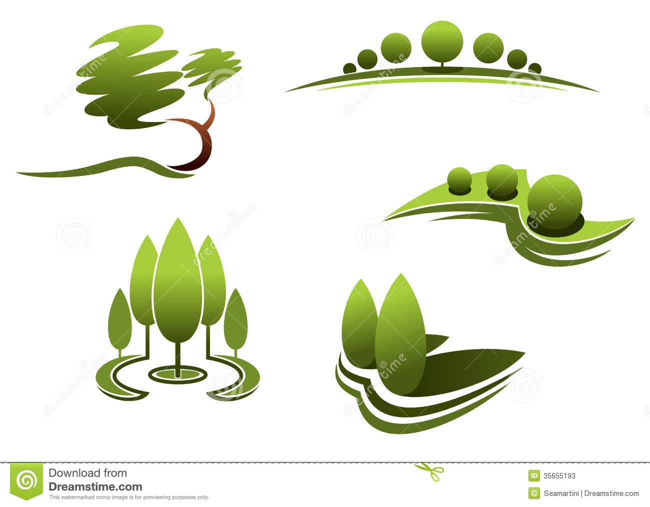 Palm leaf outline clipart