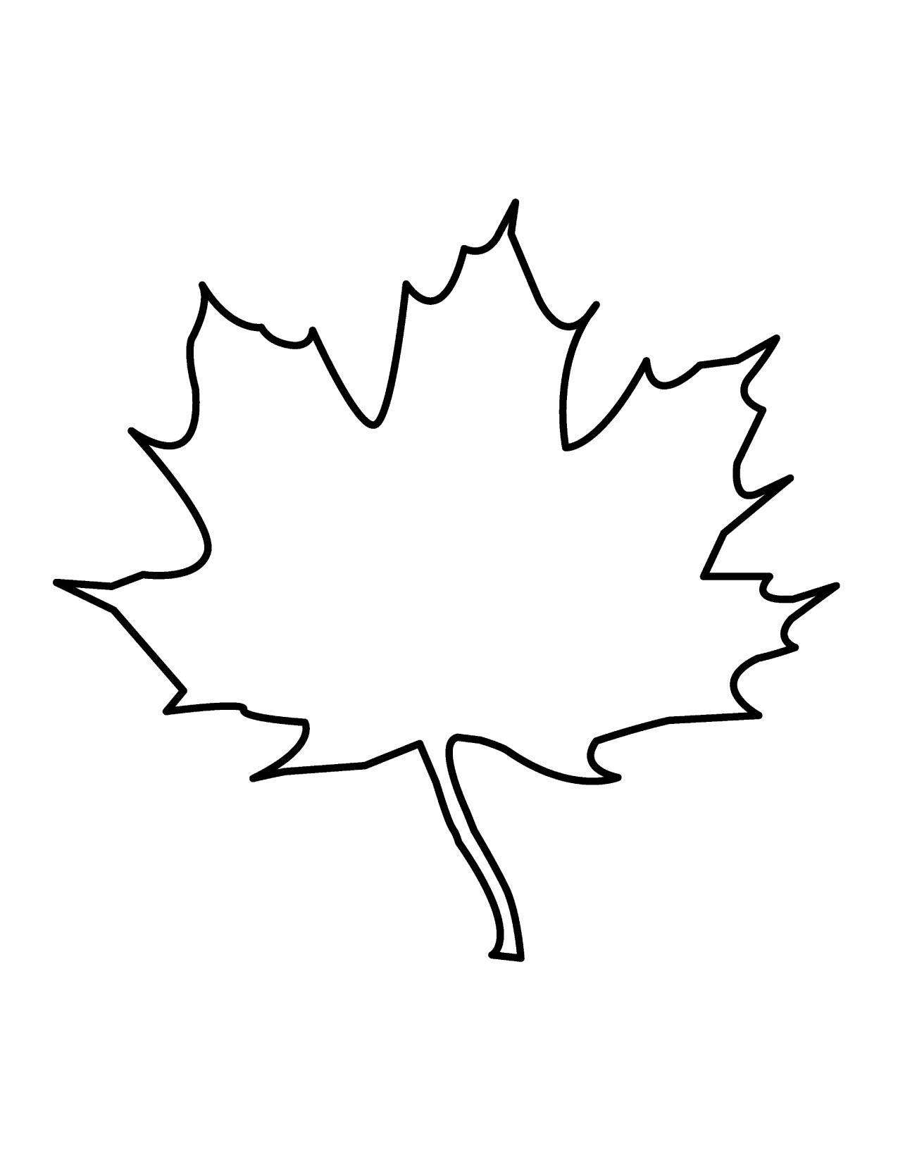 Leaf Outline Vector Clipart.