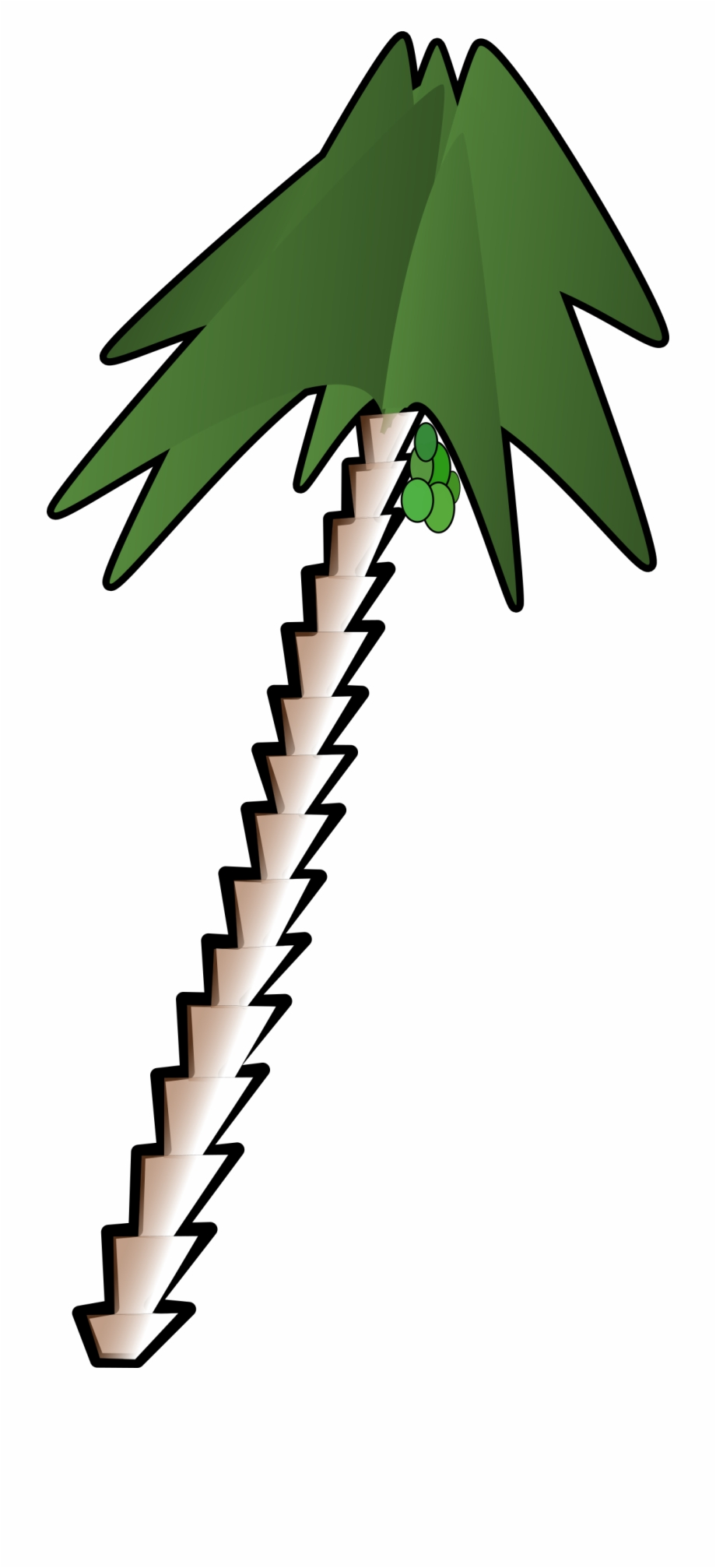 This Free Icons Png Design Of Leaning Palm Tree.