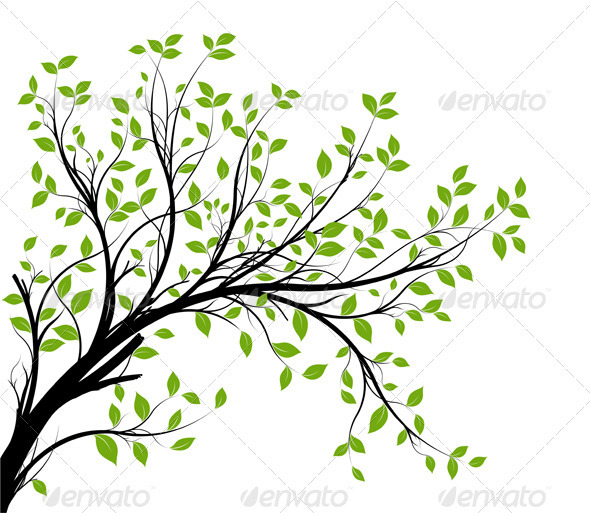 Showing post & media for Tree branch clip art cartoon.