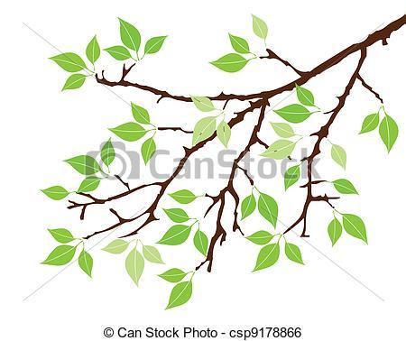 Clip Art Vector of tree branch.