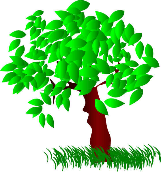 Clipart tree leaves.