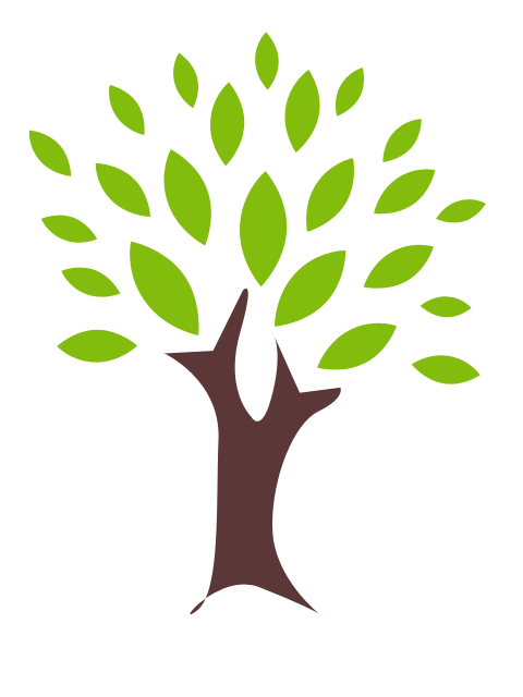 Tree with leaves clipart.