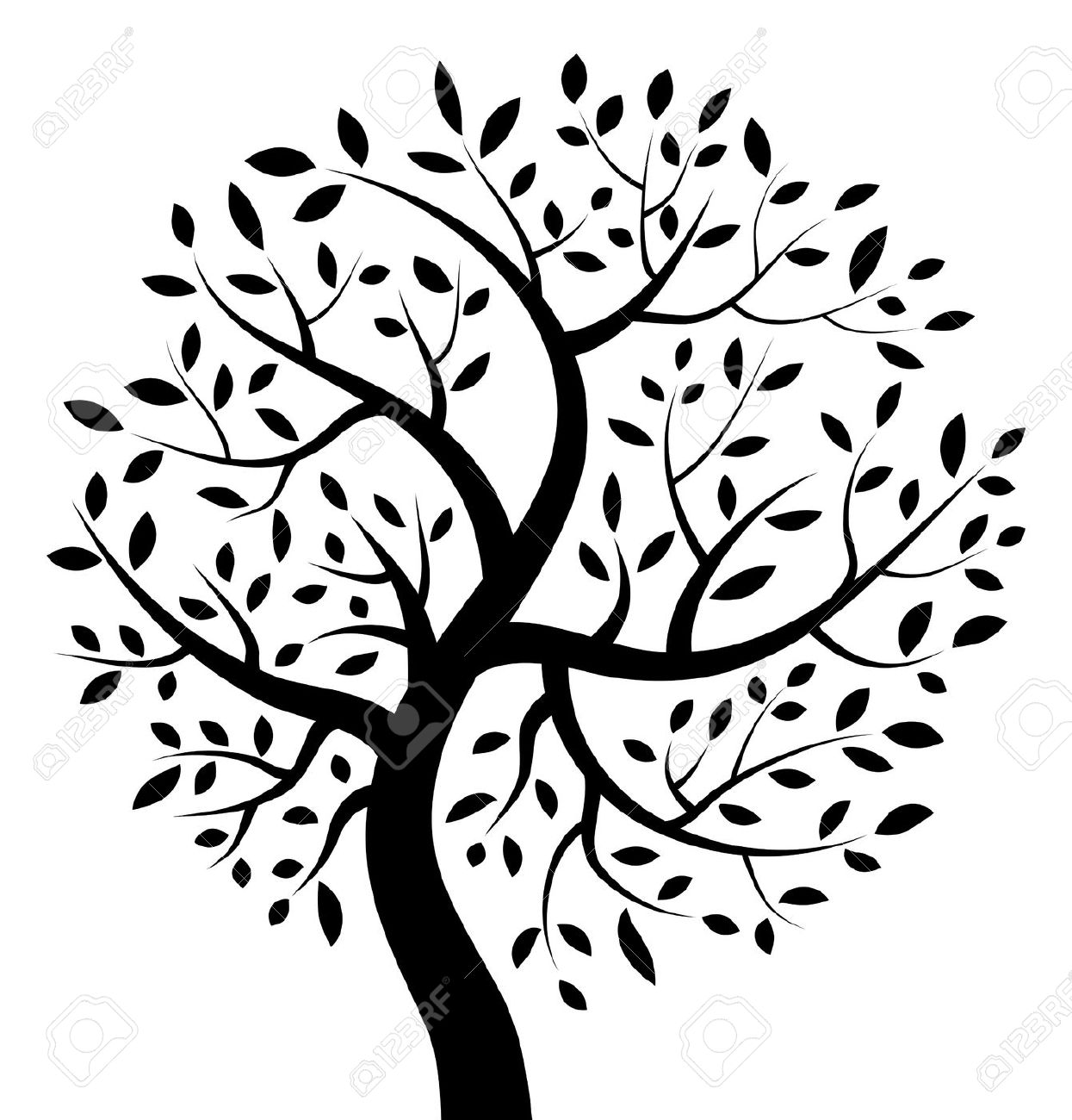 Black And White Tree Of Life Clipart.