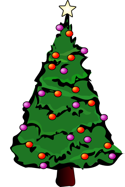Christmas Tree Lights Clip Art.