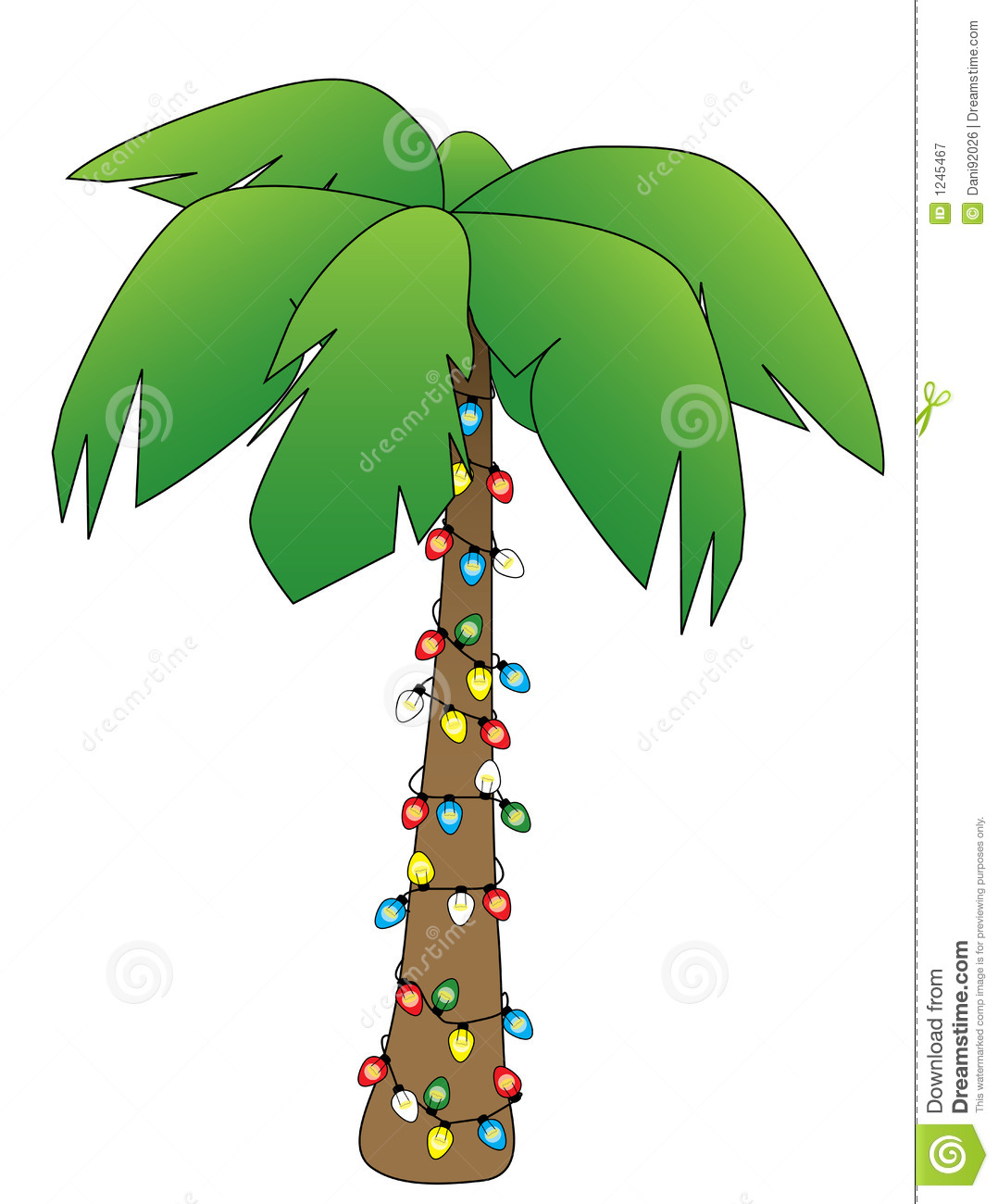 Christmas clipart palm trees lighting.