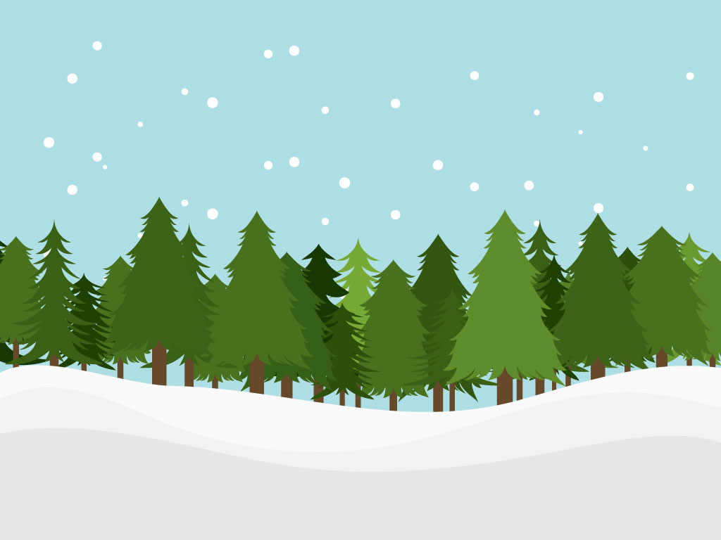Snowy tree line clipart.