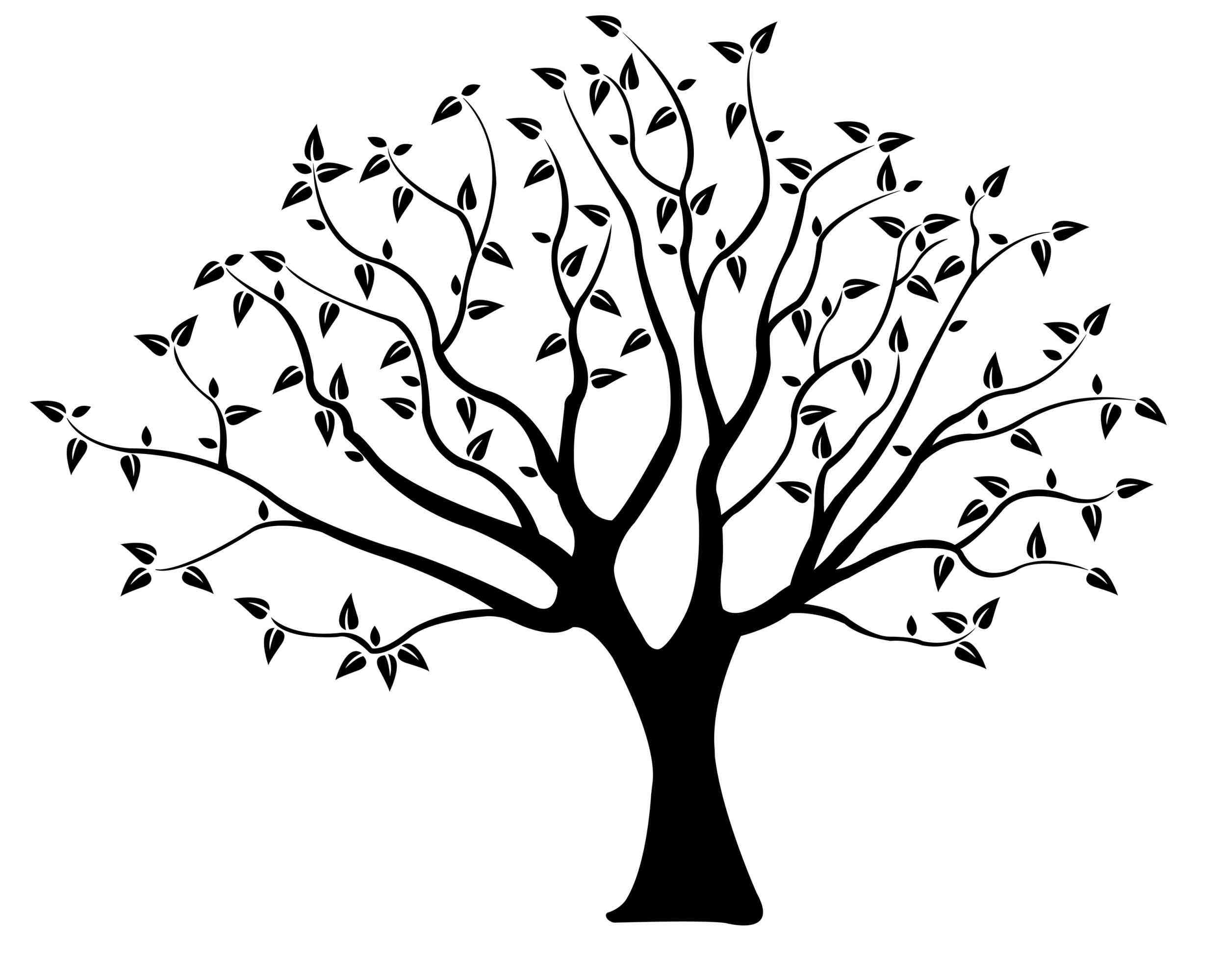 Simple Tree Line Drawing at GetDrawings.com.