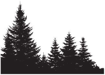Treeline silhouette clip art.