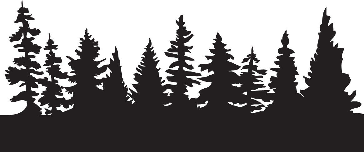 Forest Tree Line Silhouette.