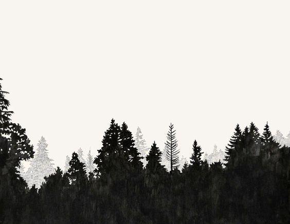 Treeline Silhouette Clipart treeline silhouette vector.