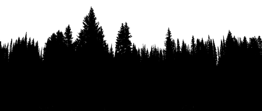 Tree Line Silhouette Png.