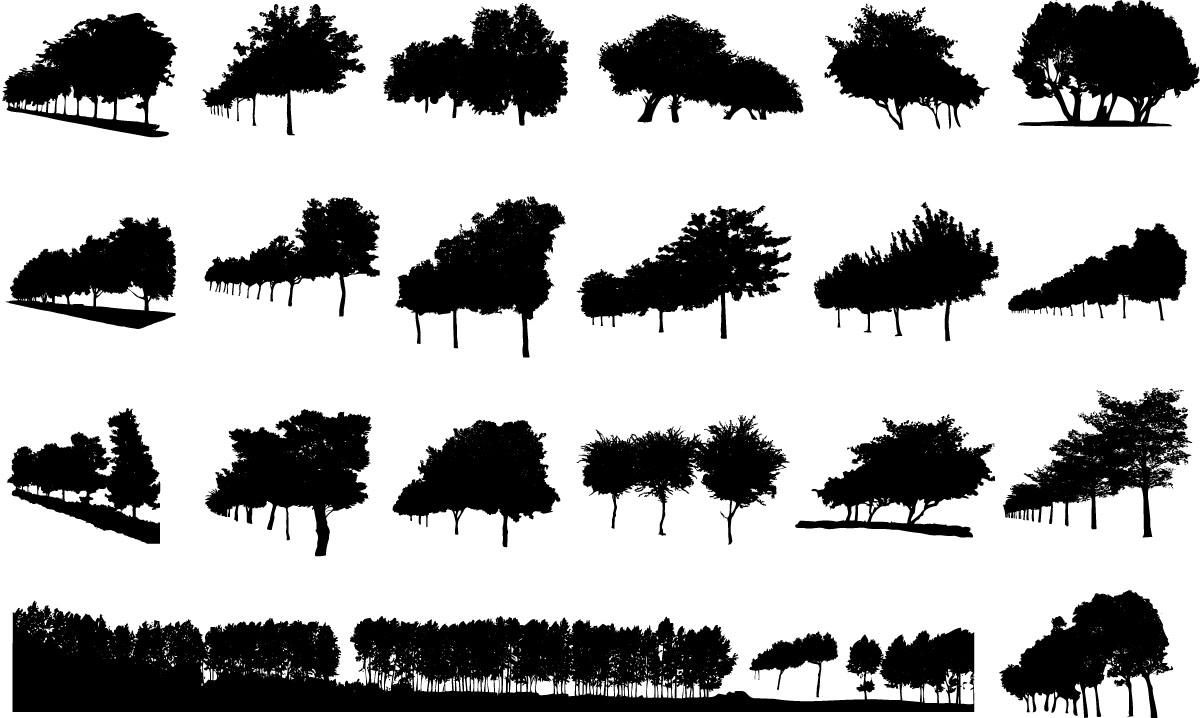 Free Forest Treeline Silhouette, Download Free Clip Art.
