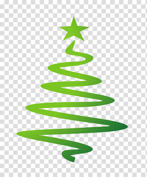 Green Christmas tree logo transparent background PNG clipart.