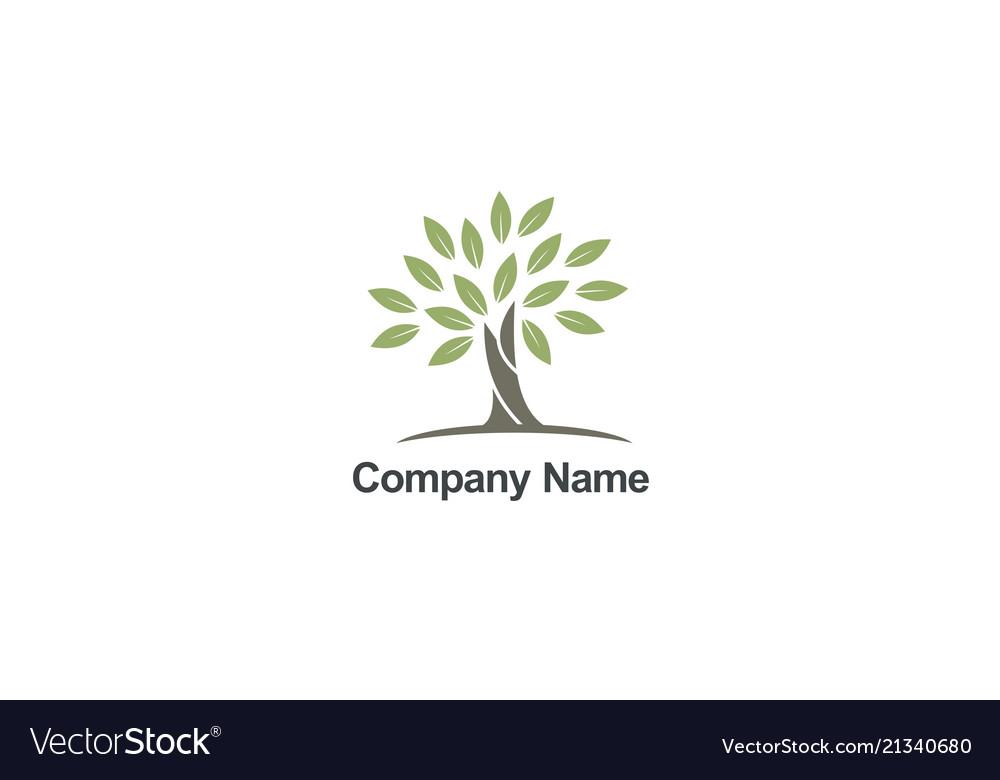 Tree abstract organic nature company logo.
