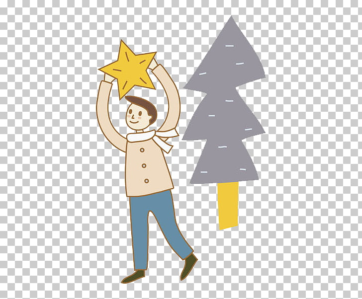Christmas tree, Christmas tree man PNG clipart.