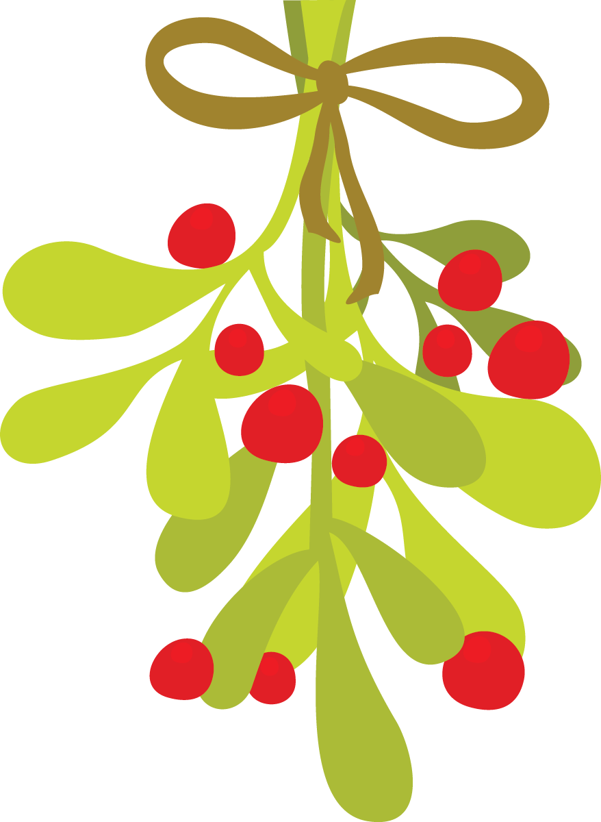 Christmas mistletoe clipart hanging.